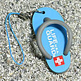 Cool Summer Flip-Flop Sandal Rubber Phone Strap (Life Guard Sky)