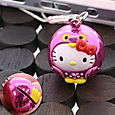 Sanrio Hello Kitty Owl Kitty with Bell Netsuke Cell Phone Strap