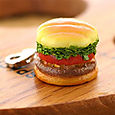 Choose Your Favorites! Fast Food Miniature Food Sample Charm (Vegetables-Burger)