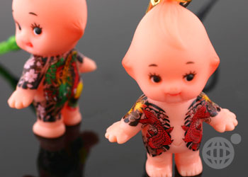 Tatted Up Gangsta Kewpie Cell Phone Strap
