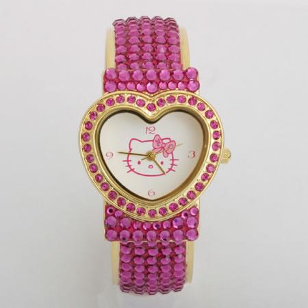 [Tinkpink] Sanrio Hello Kitty Swrovski Crystal Full-Inlayed Jewel Watch