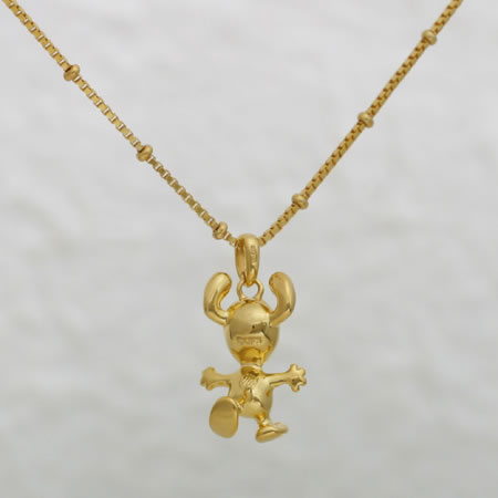 [Snoopy Jewel Boutique] Peanuts Dancing Snoopy Pendant Necklace (Gold)