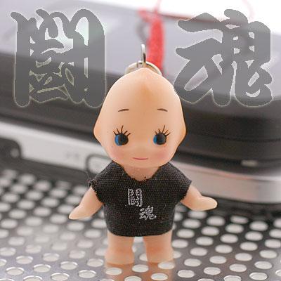 Kanji T-Shirt Kewpie Netsuke Cell Phone Strap