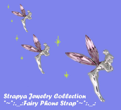 [Elegant Fairy] Cell Pone Strap Spicy Pink