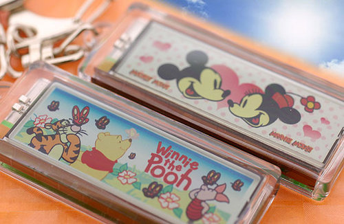 Disney Sweet Characters Solar Battery Blink Anime Cell Phone Strap